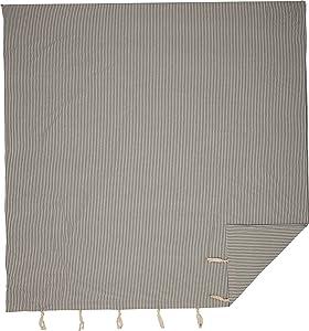 "Piper Classics Farmhouse Ticking Gray Stripe Queen Duvet Cover, 92"" x 92"", Gray & Off White Comforter Cover, Soft, Comfortable Farmhouse Bedding"