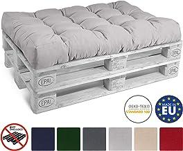 Beautissu Cojín Palet, sofá-Palet y europalet Eco Style - Cojín de Asiento 120x80x15 cm - Color: Gris Claro - Cojín: Asiento