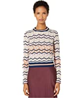 M Missoni - Long Sleeve Top in Zigzag Stitch