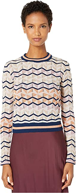 Long Sleeve Top in Zigzag Stitch