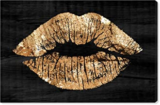 The Oliver Gal Artist Co. Fashion and Glam Wall Art Canvas Prints 'Solid Kiss Night' Home Décor, 45