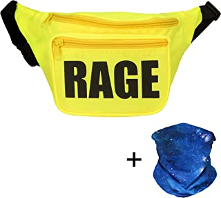 Rave Fanny Pack, Neon Fanny Pack, Party Fanny Pack, Includes Galaxy Face Mask Bandana