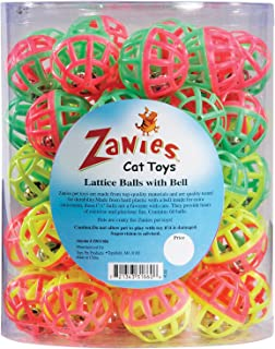 Zanies Plastic Lattice Balls Cat Toy Canister, 50-Pack