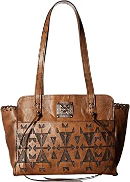 Crossed Arrows Zip Top Tote