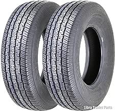 Set of 2 Premium Grand Ride Trailer Tires ST205/75R14 / 8PR Load Range D Steel Belted Radial