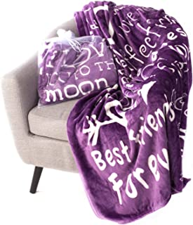 Blankiegram I love You Throw Blanket  The Perfect Caring Gift for Best Friends, Couples & Family, Purple, 50