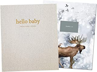Unisex Baby Memory Book | Minimalist Keepsake Milestone Record Journal | LGBTQ Friendly | 9.75 x 11.25 in. 60 Pages | Perfect Baby Shower Gift for Baby Girl or Boy