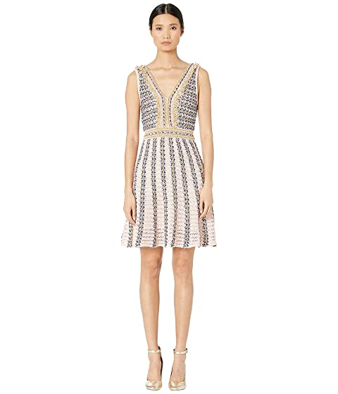 M Missoni Sleeveless V-Neck Boucle Short Dress
