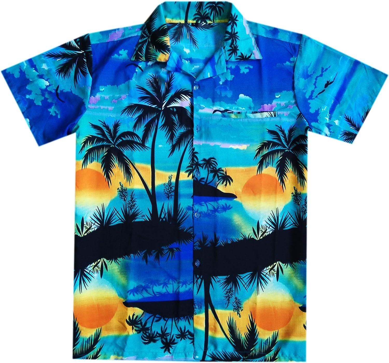 Varnit Crafts Funky Hawaiian Short-Sleeve Houston Mall Rela Max 63% OFF Shirt Button-Down
