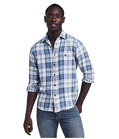 Faherty Indigo Slim Fit Shirt (Indigo Nautilus Plaid) Men