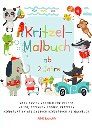 Einmal grad und einmal krumm: Zeichenstunde für Kinder (German Edition)