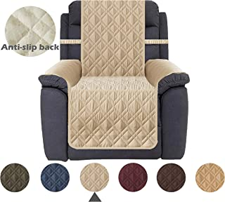 Ameritex Waterproof Nonslip Recliner Cover Stay in Place, Dog Chair Cover Furniture Protector, Ideal Recliner Slipcovers for Pets and Kids (23, Beige)