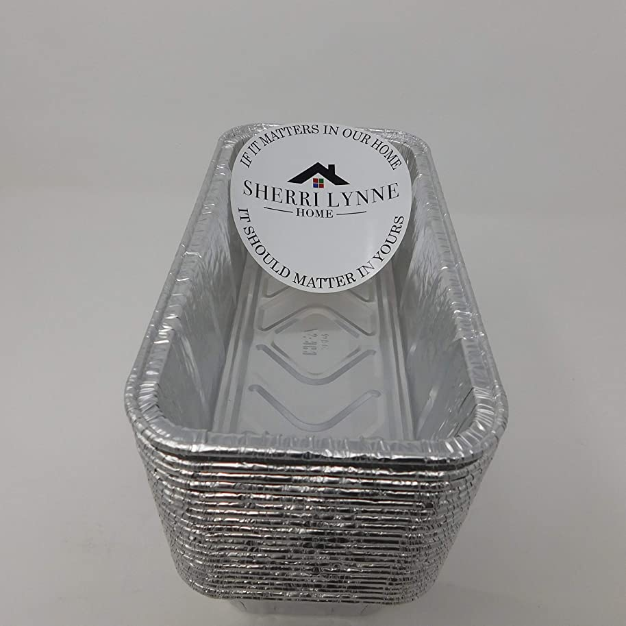 Sherri Lynne Home Disposable Aluminum Foil 2Lb Loaf Pans and Bread Tins, Standard Size - 8.5