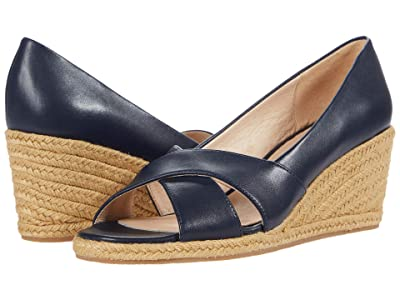 Jack Rogers Palmer Crisscross Wedge Espadrille (Midnight Navy) Women