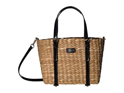 Frances Valentine Small Chloe Tote (Natural/Red) Handbags