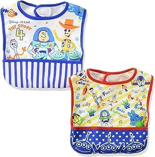 [ディズニー] トイストーリー4 お食事 エプロン 2枚組 ポケット付き ボーイズ ブルー 日本 フリー (FREE サイズ)
