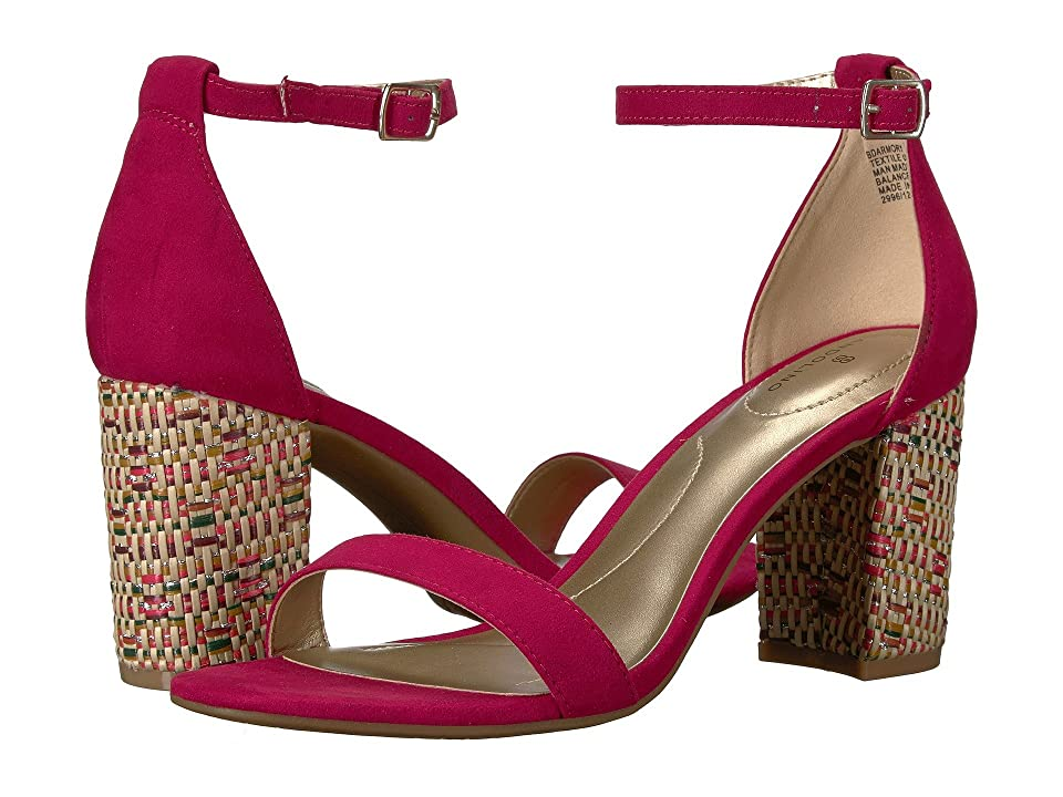 Bandolino Armory (Raspberry Faux Suede/Basketweave Heel) Women