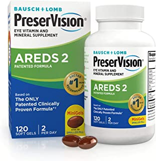 PreserVision AREDS 2 Eye Vitamin & Mineral Supplement, Contains Lutein, Vitamin C, Zeaxanthin,...