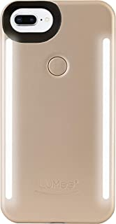 LuMee Duo Phone Case, Gold Matte | Front & Back LED Lighting, Variable Dimmer | Shock Absorption, Bumper Case, Selfie Phone Case | iPhone 8+ / iPhone 7+ / iPhone 6s+ / iPhone 6+