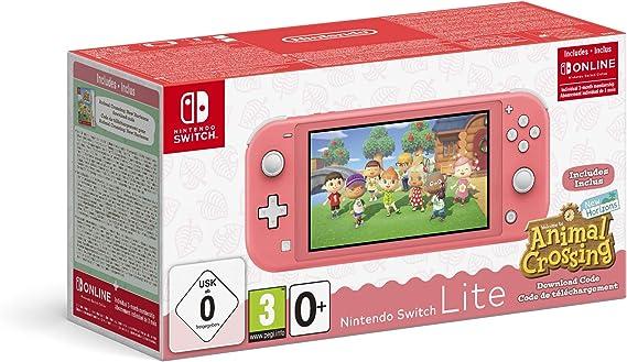 Amazon.nl-Nintendo Switch Lite Console + Animal Crossing: New Horizons - Koraal-aanbieding