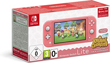 NINTENDO HW SWITCH KONSOL SWITCH LITE CORAL + ANIMAL CROSSING CODE - SWITCH LITE