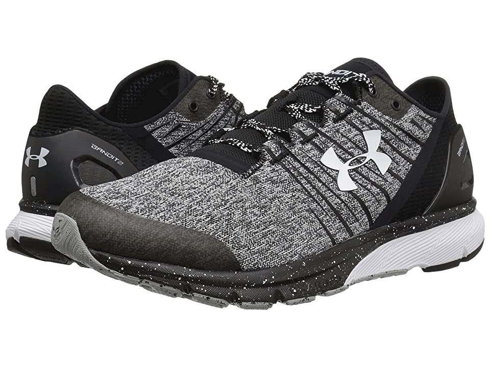 online store ee2eb f70c4 Under Armour UA Charged Bandit 2 (Black/Black/White) Men's Running Shoes