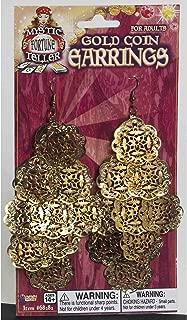 Forum Novelties, Women's Gypsy Flower Coin Dangling Ear, Gold, Standard