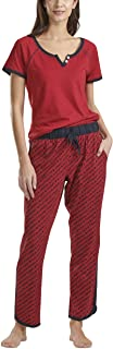 Tommy Hilfiger Women's Short Sleeve Tshirt and Logo Pant Lounge Bottom Pajama Set Pj