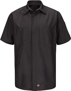 Red Kap Men's Ripstop Crew Shirt, Short Sleeve