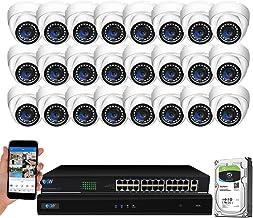 GW Security 32 Channel 4K NVR 5MP H.265 IP دوربین دوربین مداربسته IP با دوربین های 24 تکه Super HD 1920P ضد آب و هوا گنبد امنیتی PoE