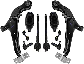 PartsW 10 Pc Front Control Arm Sway Bars Tie Rod End Suspension Kit for INFINITI i30 INFINITI i35 NISSAN Maxima 2000-2004