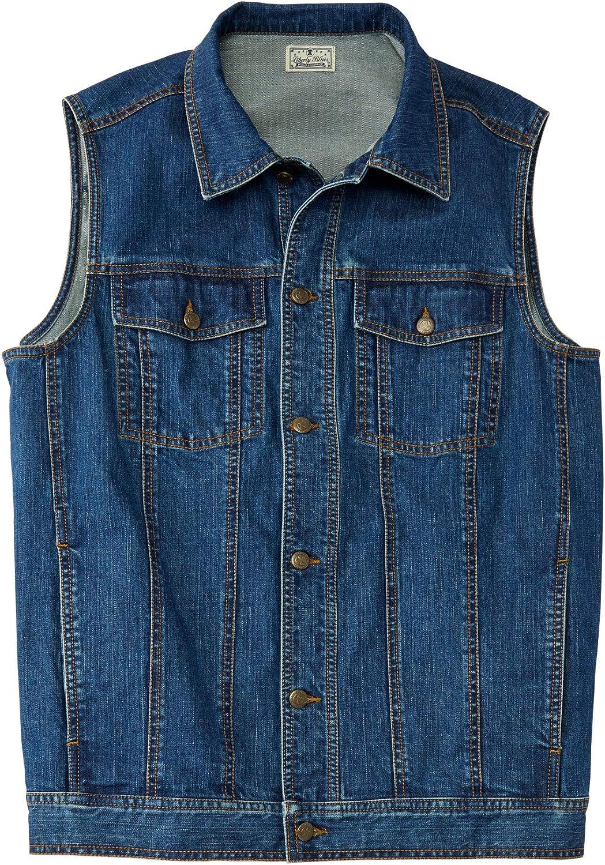 Liberty Blues Men's Big & Tall Denim Vest