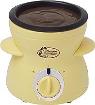Bestron Appareil à fondue au chocolat au design rétro, Sweet Dreams, 25 W, Jaune