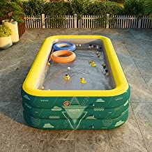 Piscina inflable – Piscina para niños, piscina sobre el suelo para niños pequeños adultos gran piscina para verano fiesta agua piscina rectangular piscina Intex (azul)