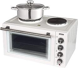 Silva-Homeline KK 2900 - Cocina pequeña con recirculación y función de parrilla, 30 L, 3 bandejas, incluye parrilla, bandeja para pizza y pincho giratorio, color blanco