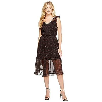 BB Dakota Cal Floral Midi Dress (Black) Women
