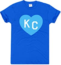 Charlie Hustle Unisex Crown Town Royal Blue KC Heart T-Shirt