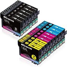 Hicorch 18XL Cartuchos de Tinta para Epson 18 XL Compatible con Epson Expression Home XP-215 XP-225 XP-302 XP-305 XP-312 XP-315 XP-322 XP-405 XP-412 XP-422 XP-425(6 Negro,3 Cian,3 Magenta,3 Amarillo)