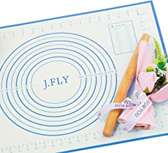 J.FLY Silicone Pastry Mat 16 x 24inch Non-Stick Baking Mat with Measurement Extra-Thick Large Multipurpose Countertop Prot...