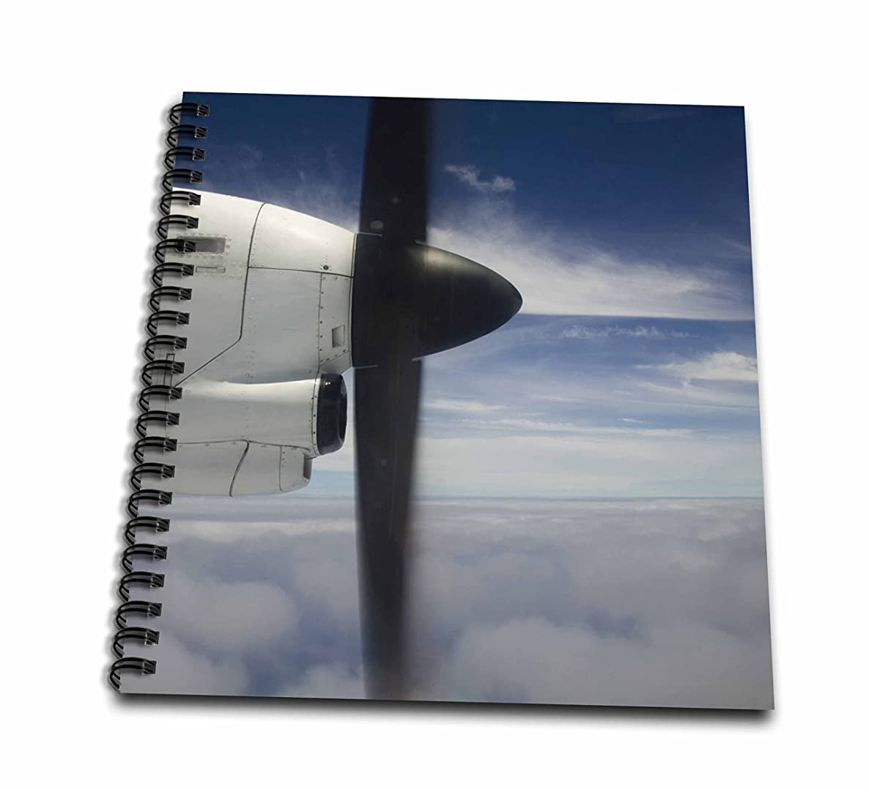 3dRose db_84918_1 Vanuatu, Tanna, Turbo-prop airliner, aviation - OC07 WBI0394 - Walter Bibikow - Drawing Book, 8 by 8-Inch