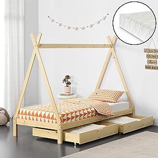 140x70, Blanco Childrens Beds Home Cama Nido para ni/ños Colch/ón Juniors para ni/ños Sin cajones y sin colch/ón Incluido