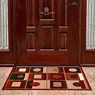 Front Door Mat Welcome Doormat for Home, Indoor, Entrance, Kitchen, Patio, Entry - Waterproof Low Profile Entryway Rug - Natural Jute Backing - Power Loomed in Turkey | 24