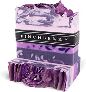 Finchberry Handmade Natural Soap Bar, Moisturizing Shea Butter & Coconut Oil, Organic and Sustainable Ingredients, Grapes of Bath, 4.5 oz