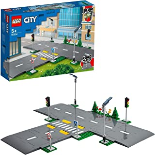 LEGO 60304 City Rijplaten Bouwset met Verkeerslichten en Glow in the Dark Bouwstenen