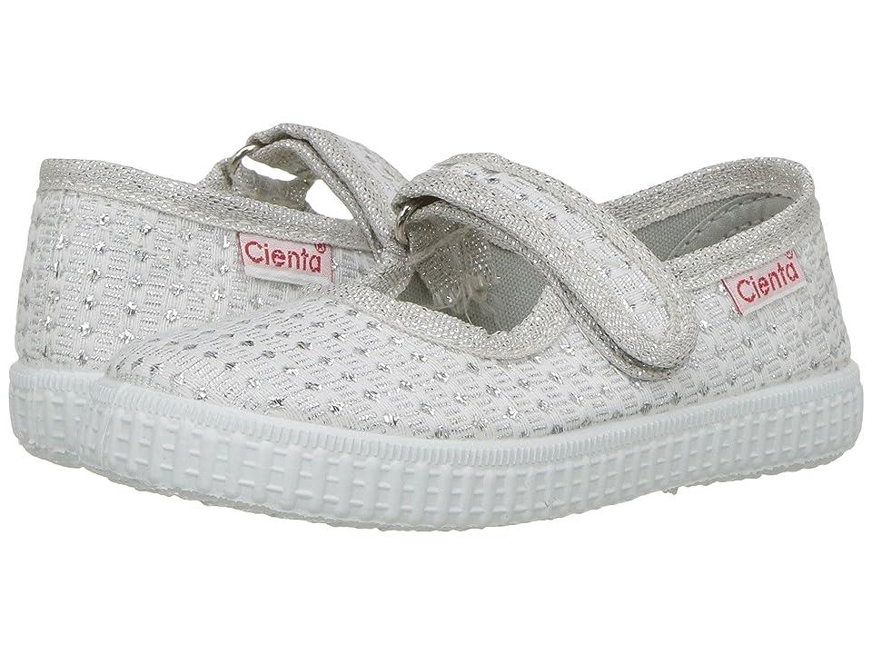 Cienta Kids Shoes 56022 (Infant/Toddler/Little Kid/Big Kid) (Silver) Girl