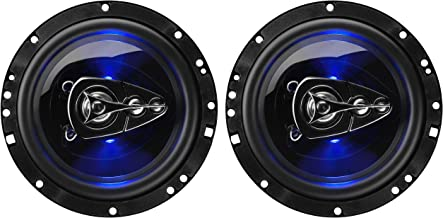 BOSS Audio Systems BE654 6.5 Inch Car Speakers - 300 Watts of Power Per Pair, 150 Watts Each, Full Range, 4 Way, Sold in Pairs