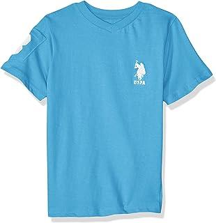 U.S. Polo Assn. Boys' Short Sleeve V-Neck Solid T-Shirt