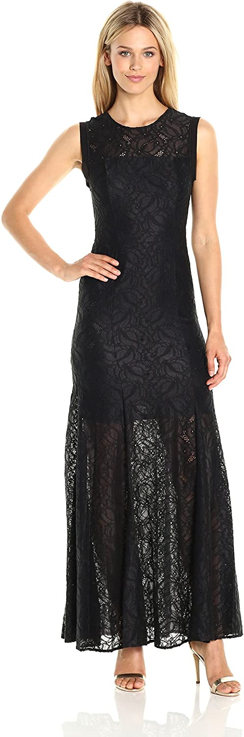 BCBGeneration Womens Lace Gown Dress