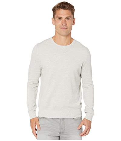 J.Crew Cotton-Cashmere Pique Crewneck Sweater (Heather Silver) Men