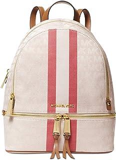 4d8428ec53631b MICHAEL Michael Kors Rhea Zip Medium Backpack (Vanilla/Red)